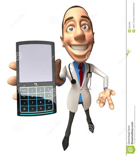 the phone doctor doctor with a mobile phone stock illustration image of