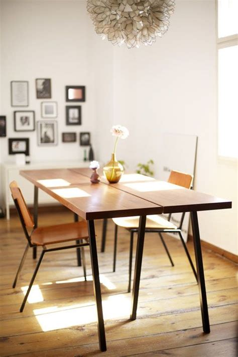 Schoene Ideen Fuer Esstisch Mit Stuehlenfabulous Solid Wood Dining Table Modern Woden Brown Color Design by Die 25 Besten Ideen Zu Esstisch Holz Metall Auf