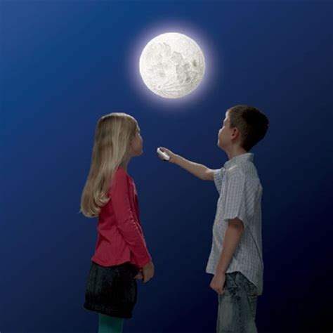 realistic moon wall light home designing