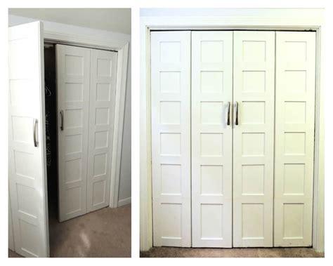 bedroom closet door home tour in progress