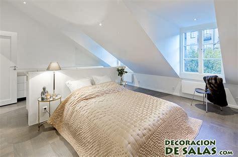 chambre med buhardillas minimalistas