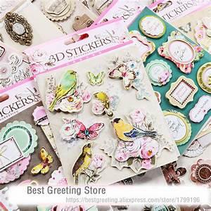 Album Photo Autocollant : buy paper vintage 3d stickers retro birds quotes titles butterfly metal frame ~ Teatrodelosmanantiales.com Idées de Décoration