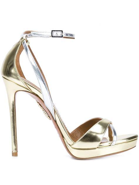 light gold heels aquazzura heels thing aquazzura ankle sandals