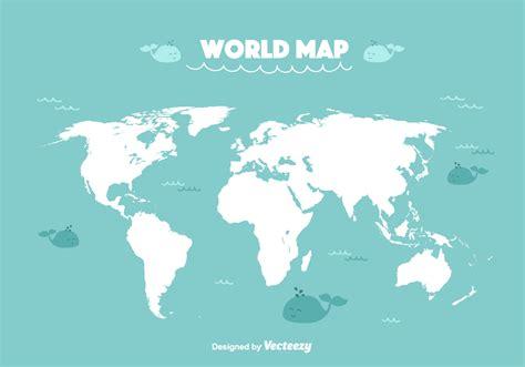 Carte Monde Vierge Vectoriel by World Map Vector Free Vector Stock