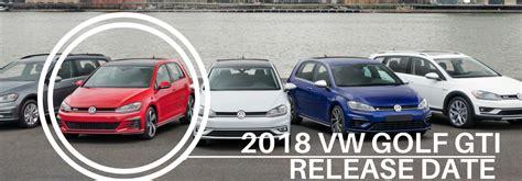 volkswagen golf gti release date