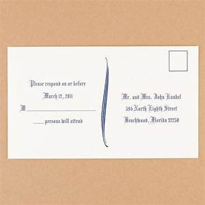 natural white response postcards ann39s bridal bargains With wedding invitation rsvp plus one
