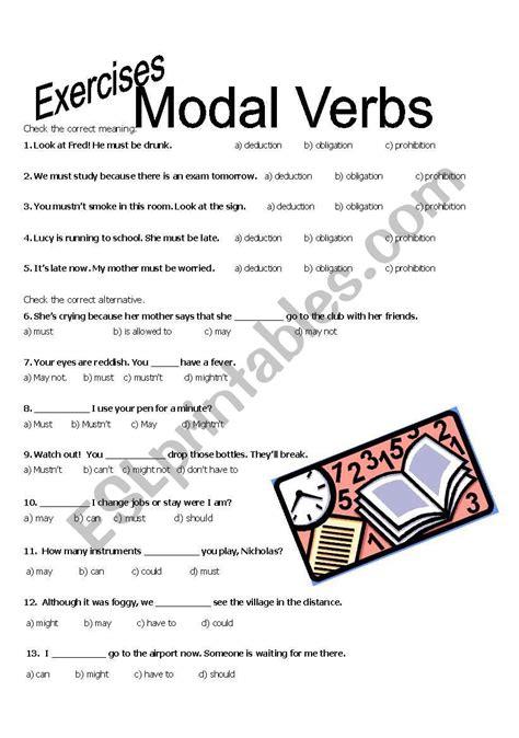 modal verbs exercises esl worksheet by lihgf