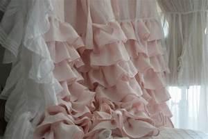 Rideau Lin Pas Cher : rideau rose poudre ~ Teatrodelosmanantiales.com Idées de Décoration