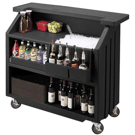 Mobile Bar by Cambro Portable Bar 540 Black Mobile Bars Portable Event