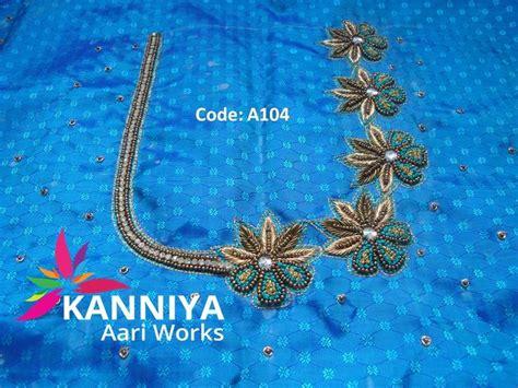 french knot  zardosi work  bridal kanniya aari