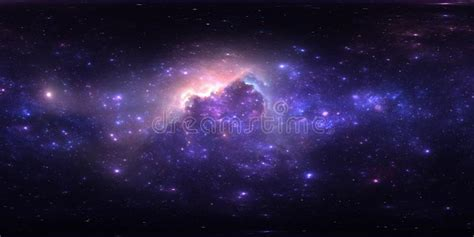 360 Equirectangular Projection. Space Background With