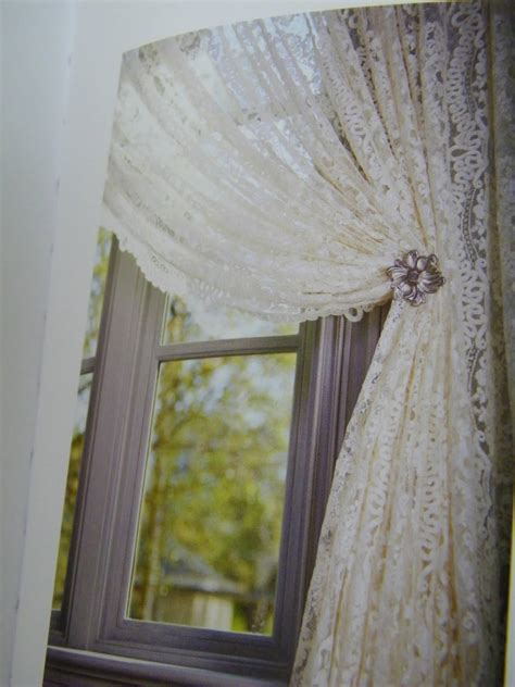 lace curtains with attached valance lace shower curtain with attached valance mccurtaincounty