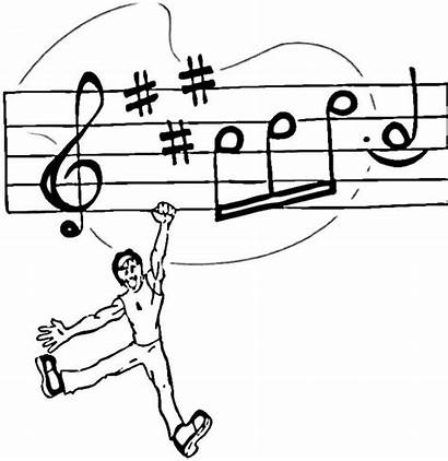 Notes Coloring Pages Note Printable Musical Holding