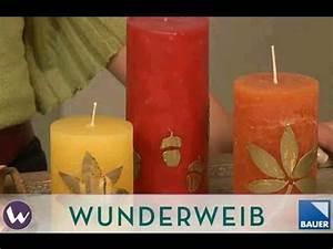 Kerzen Selber Machen Mit Kindern : kerze dekorieren selber machen kerzen mit blattmotiven deko tipp ideen von ~ Watch28wear.com Haus und Dekorationen