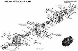 Parker Hp2 Tandem Pump Assembly