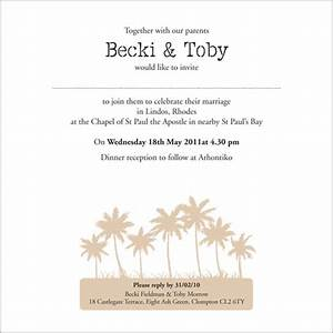 The beach wedding stationery collection by pink polar for Wedding invitations writing inside