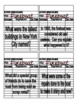 Fireboat Worksheets september 11th 9 11 fireboat book study and literature