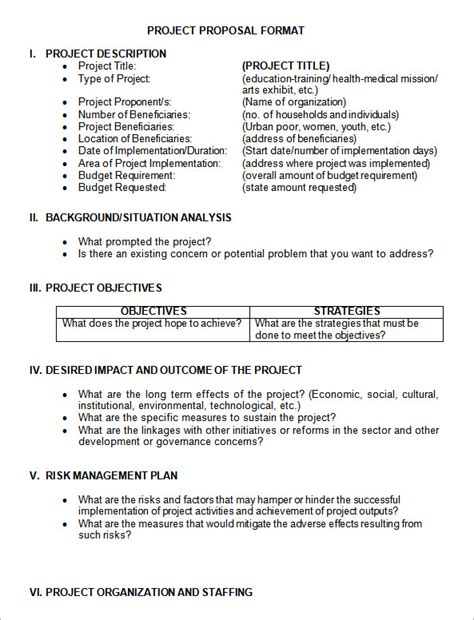 sample project proposal templates  google docs