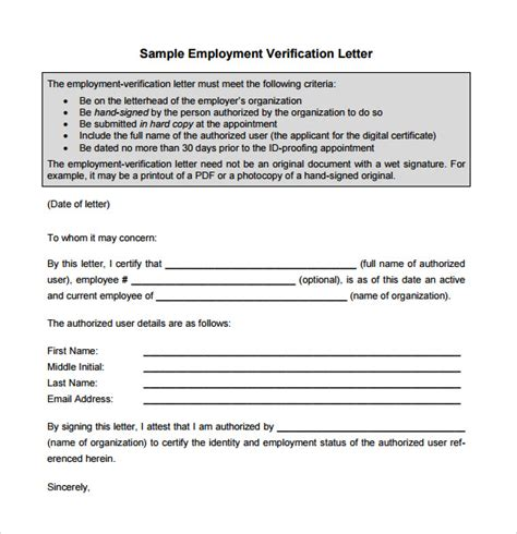 sample proof  employment letters