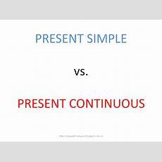 English4u Present Simple Vs Present Continuous