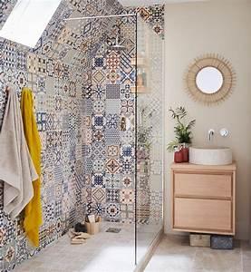 Salle De Bain Italienne Leroy Merlin : mix and match de carrelages dans la salle de bains leroy ~ Melissatoandfro.com Idées de Décoration