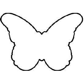 Simple Outlines Of Butterflies - ClipArt Best