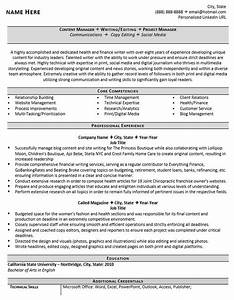 Professional writer and editor resume example zipjob for Professional writer resume