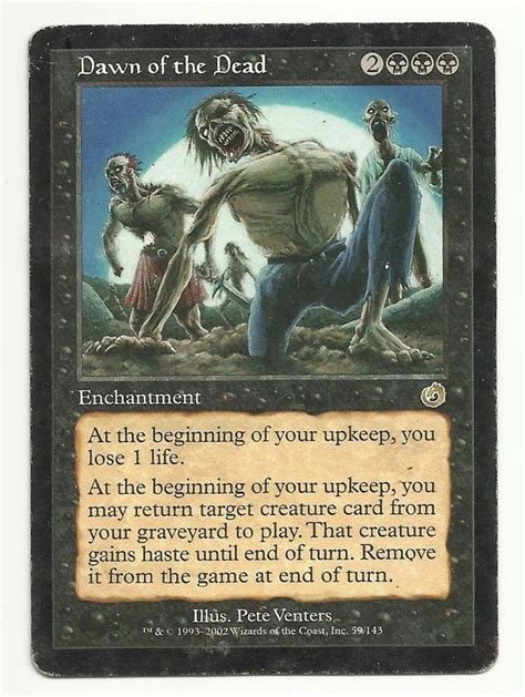 Mtg Enchantment Deck Edh by Of The Dead X1 Mtg Torment Black Enchantment Magic