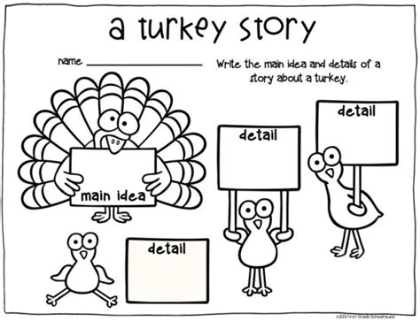 thanksgiving writing for firsties grade writing
