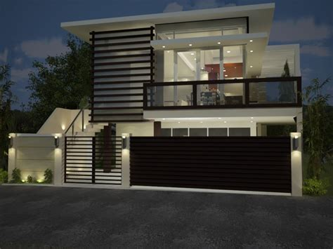 modern minimalist house fence design    home ideas