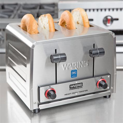 waring 4 slice commercial toaster waring wct800 heavy duty 4 slice commercial toaster 2200w