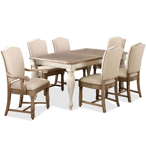 riverside table and chairs rectangular leg dining table with 18 quot leaf by riverside