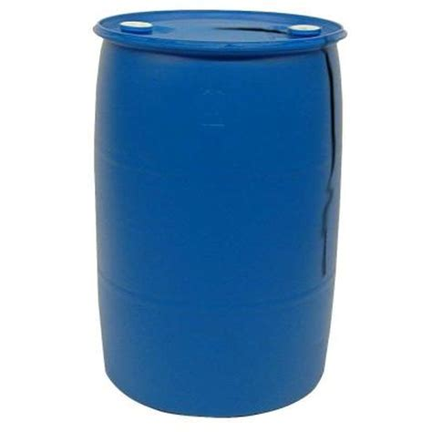 55 Gal. Blue Industrial Plastic Drum PTH0933   The Home Depot
