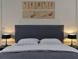 Tete De Lit Tissu : tete lit en tissu ~ Premium-room.com Idées de Décoration