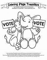 Coloring Election Pages Vote Constitution Printable Independence Congress Nate Electoral College Voting Tuesday Mexican Preschool Dulemba Getcolorings Works November Printables sketch template