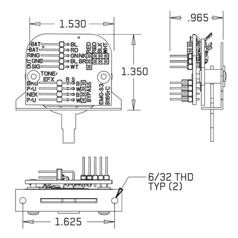 Original Emg Wiring Diagram Solder