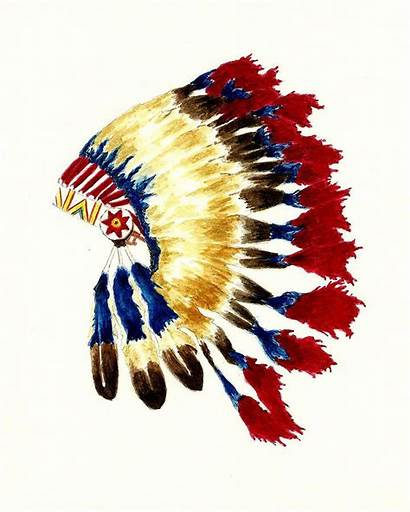 Cherokee Headdress Indian Native American Painting Tattoos