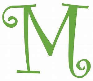 Letter m initial vinyl car decal window sticker monogram for Initial vinyl lettering decals