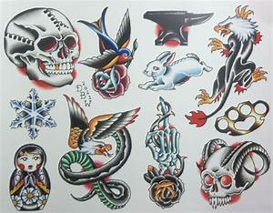 Miscellaneous IV Neo-Traditional Tattoo Flash Sheet