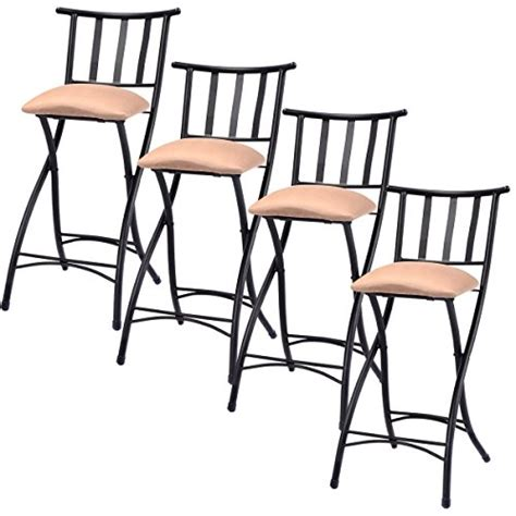 Counter Height Bar Stools Set Of 4 by Costway Set Of 4 Folding Bar Stools Counter Height Bistro