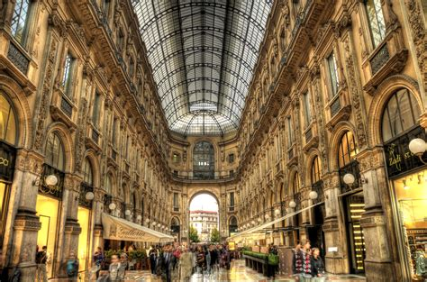 milan italy galleria hdr places  explore
