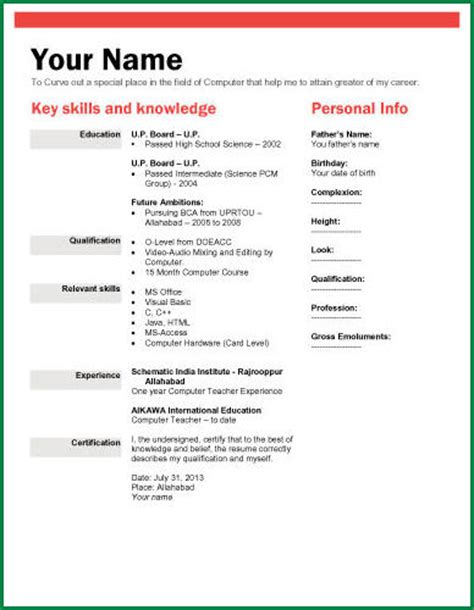 Marriage Resume For Boy Indian by Biodata Form For 2 Biodata Template Jpg Thankyou Letter Org
