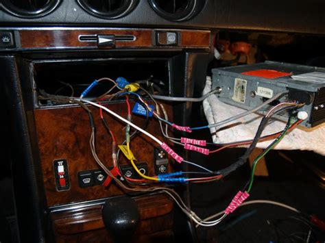 help with original radio wiring 81 380sl mercedes forum