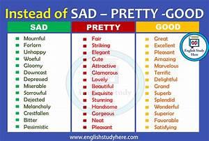 Instead of SAD ... Beautiful Synonyms