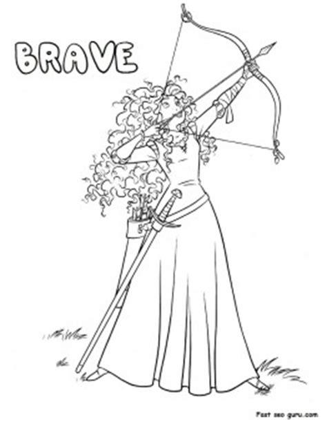 printable disney characters princess brave coloring sheet printable coloring pages  kids