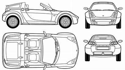 Smart Roadster Blueprints Coupe Blueprint Drawing 2005