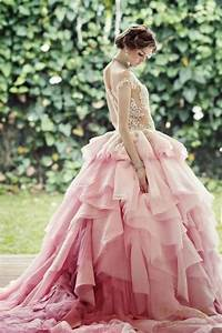 pink wedding pretty pink weddings 1983746 weddbook With pink ombre wedding dress