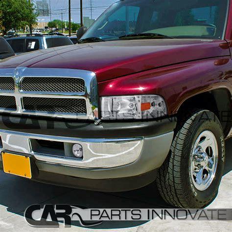 1994 2001 Dodge Ram 1500 2500 3500 Clear Lens Fog Lights