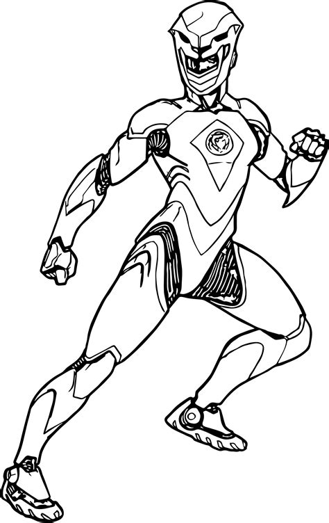 Power Ranger Step By Step Coloring Pages
