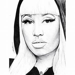 Pen Drawing Of Nicki Minaj Freehand by demoose21 on DeviantArt